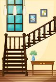 picture of upstairs  - A view of the indoor part of the house going upstairs - JPG