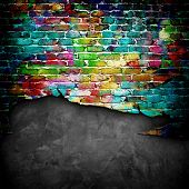picture of stonewalled  - graffiti brick wall - JPG