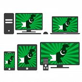 picture of pakistani flag  - Many device media  - JPG