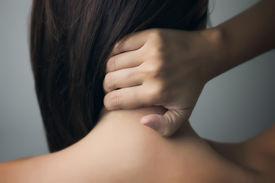 stock photo of hurt  - Painful Back Hurting - JPG