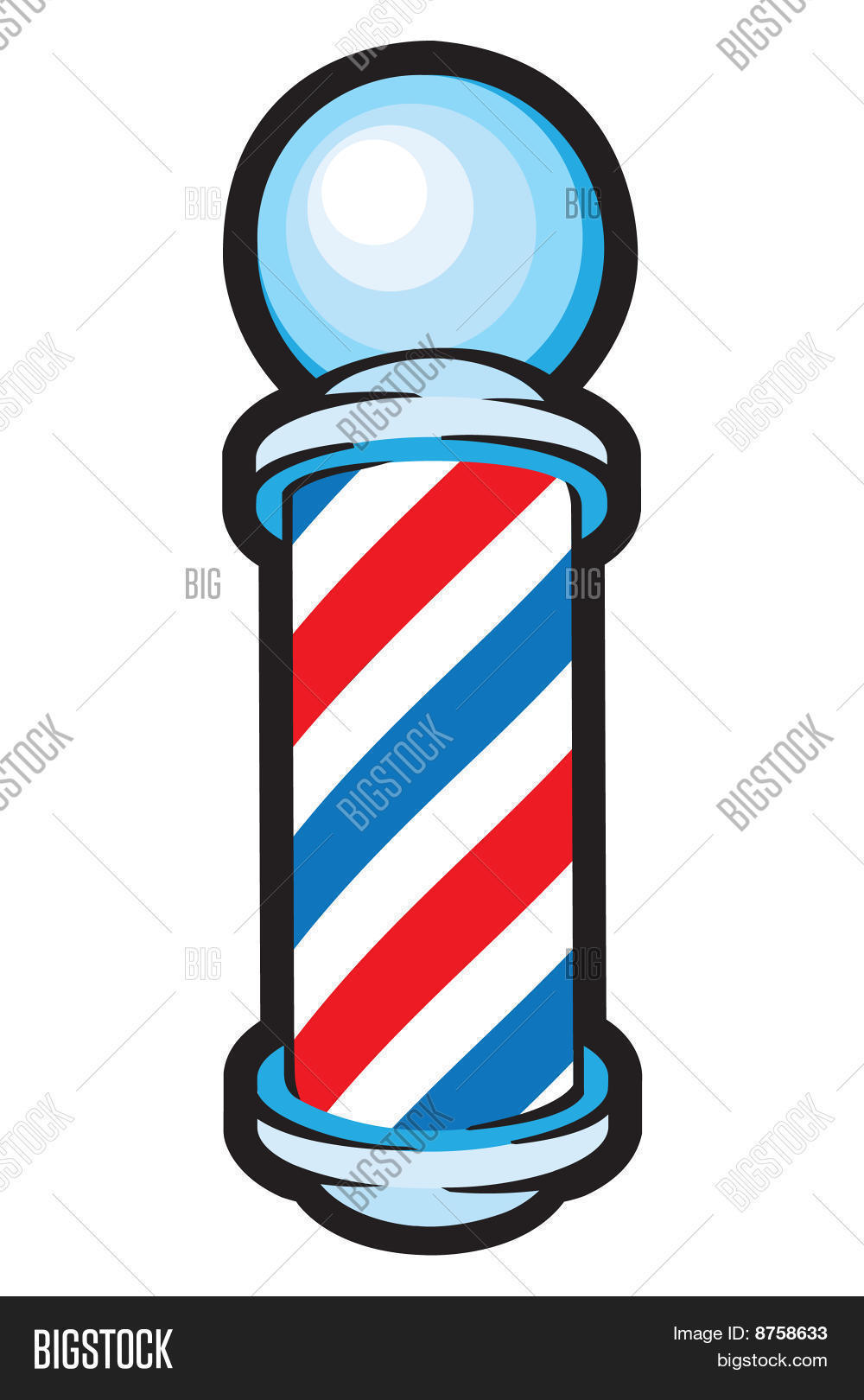 Barber Vector : Barber Pole Stock Vector & Stock Photos Bigstock