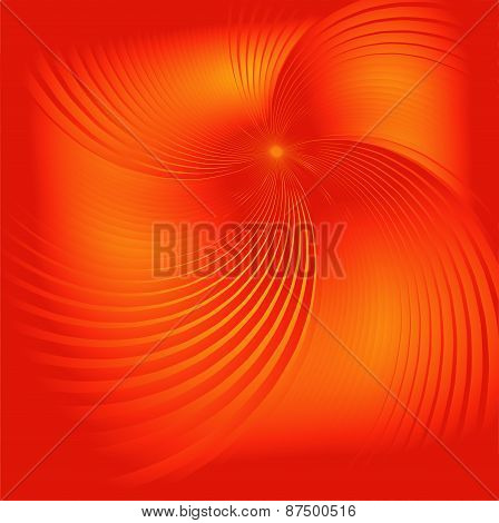 Orange spiral background