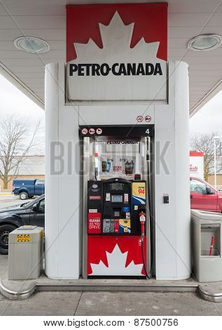 Pump In Petro Canada Gas Station