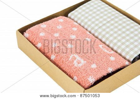 Handkerchief Isolated In The Box