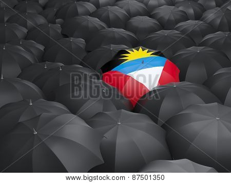 Umbrella With Flag Of Antigua And Barbuda