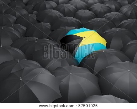 Umbrella With Flag Of Bahamas