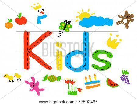 KIds Imagination Handwriting Create Drawing Concept