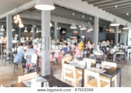 Blurred People In The Restaurant