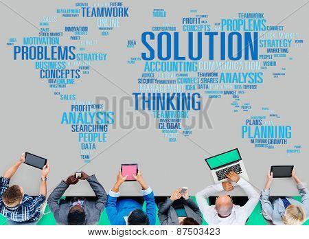 Solution Success Sloved Decision Strategic Progress Concept