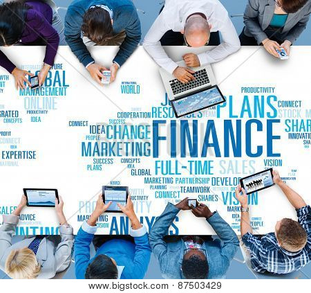 Finanace Security Global Analysis Management Accounting Concept