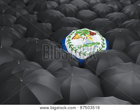Umbrella With Flag Of Belize