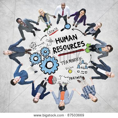 Human Resources Employment Teamwork Business People Support Concept