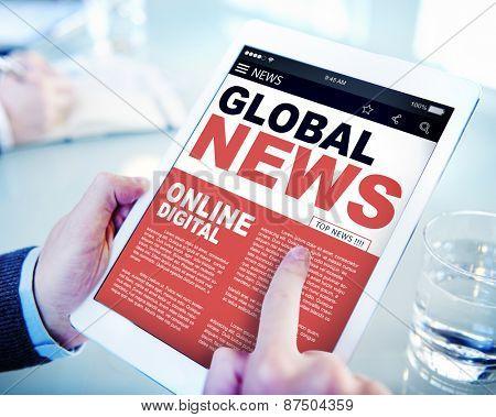 Digital Online Update Global News Concept