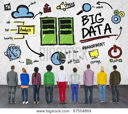 Ethnicity Cheerful Group Big Data Information Data Center Concept