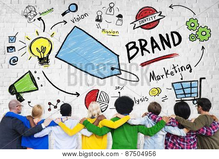 Brand Marketing Strategy Business Concept