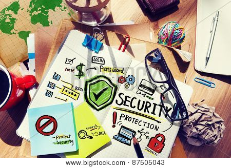 Paperwork Security Protection Information Login Concept