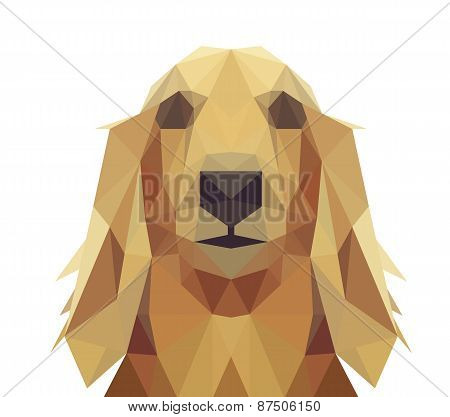 Low Poly Geometric Dog Design