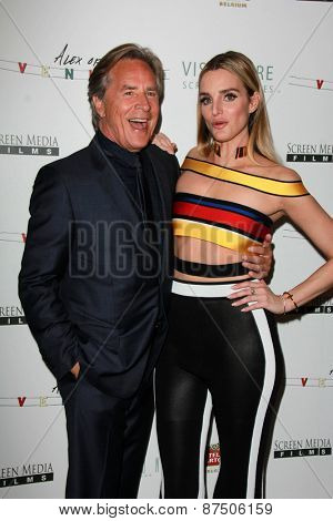 LOS ANGELES - FEB 8:  Don Johnson, Katie Nehra at the