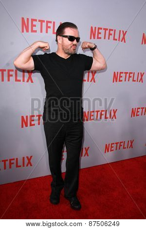 LOS ANGELES - FEB 8:  Ricky Gervais at the Netflix's