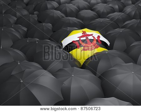 Umbrella With Flag Of Brunei