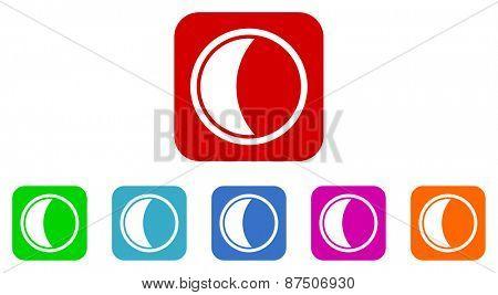 moon vector icon set