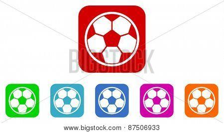 soccer vector icon set