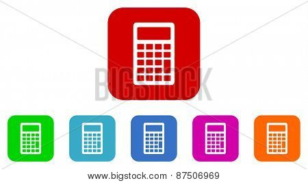 calculator vector icon set