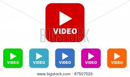video vector icon set