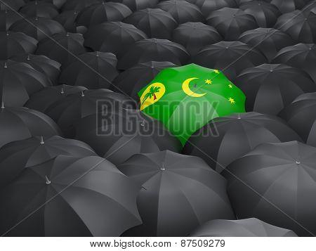 Umbrella With Flag Of Cocos Islands