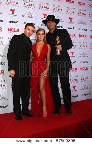 LOS ANGELES - SEP 27:  Daryl Sabara, Alexa Vega, Robert Rodriguez at the 2013 ALMA Awards - Press Room at Pasadena Civic Auditorium on September 27, 2013 in Pasadena, CA