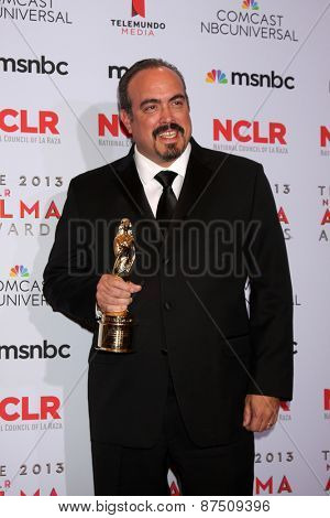 LOS ANGELES - SEP 27:  David Zayas at the 2013 ALMA Awards - Press Room at Pasadena Civic Auditorium on September 27, 2013 in Pasadena, CA