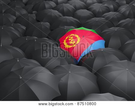 Umbrella With Flag Of Eritrea