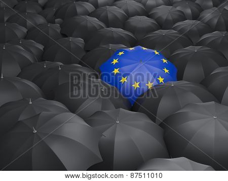 Umbrella With Flag Of European Union