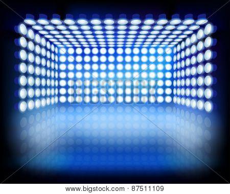 Lighting box. Vector illustration.