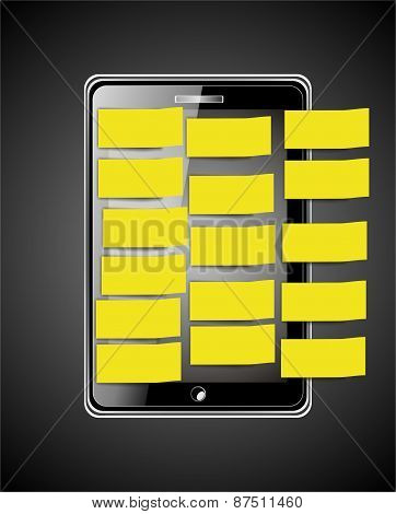 Smart Phone With Yellow Label