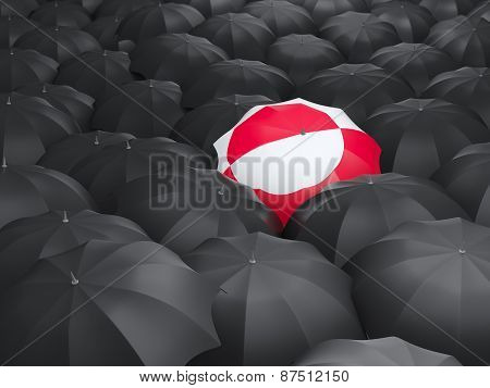 Umbrella With Flag Of Greenland
