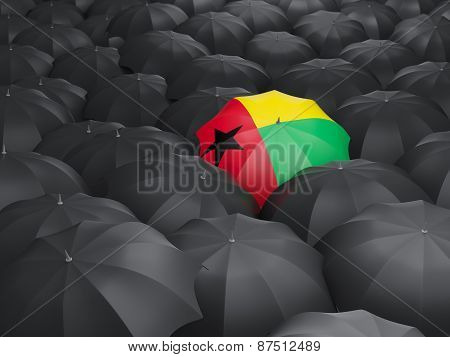 Umbrella With Flag Of Guinea Bissau