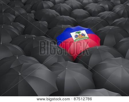 Umbrella With Flag Of Haiti
