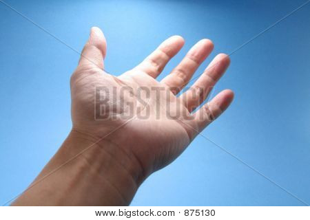 Hand Reaching To Sky