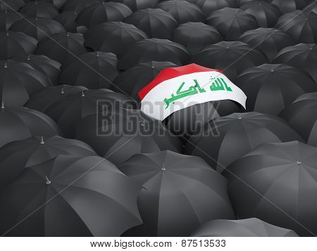 Umbrella With Flag Of Iraq