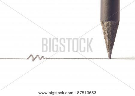 Black Pencil With Stroke