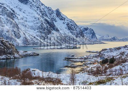 Fjord in Lofoten Islands
