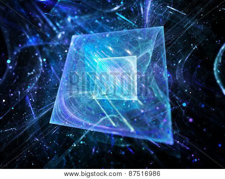 Blue Glowing Squares Technology