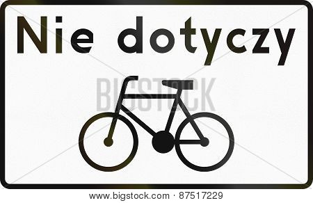 Cycles Exempt In Poland