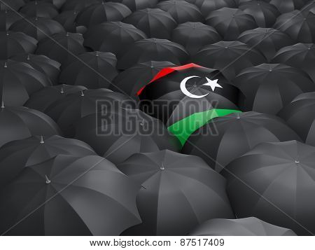 Umbrella With Flag Of Libya