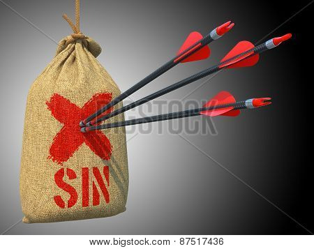Sin - Arrows Hit in Red Target.