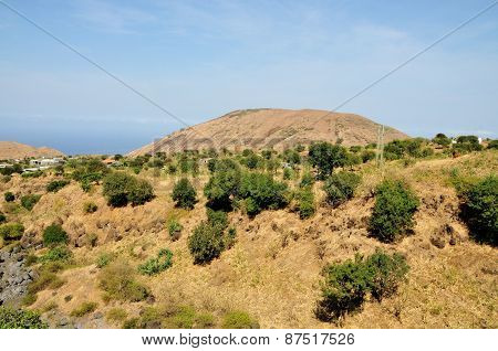 Mountain By Dry River Bed