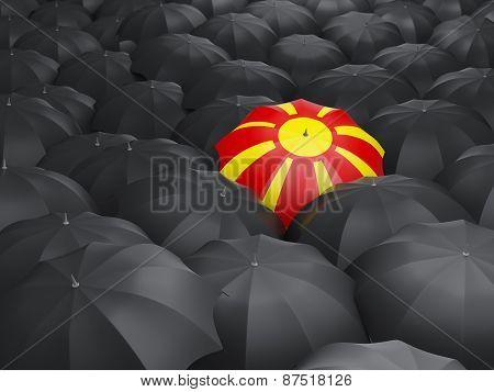 Umbrella With Flag Of Macedonia