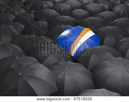 Umbrella With Flag Of Marshall Islands