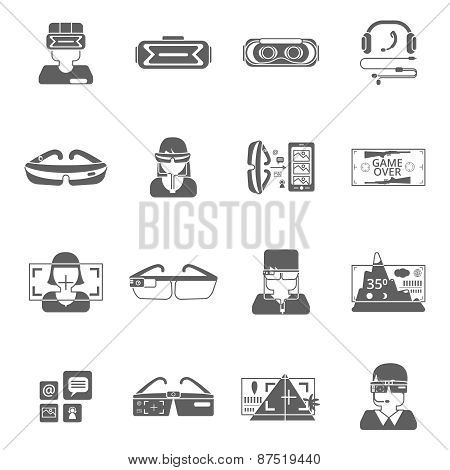 Virtual Glasses Icon Set